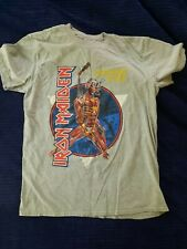 IRON MAIDEN Somewhere Back In Time Grey T-SHIRT gently used  L official band