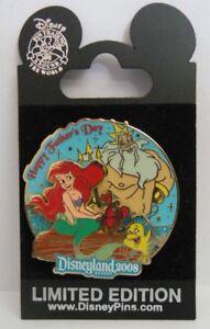 Disney Ariel, King Triton, Sebastian, Flounder Happy Father's Day 2008 LE Pin