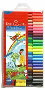 Faber-Castell Connector Pen Set - Pack of 25 (Assorted), free shipping