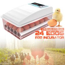 Fonte De Alimentação Dupla 24 Ovos Viragem Chocadeiras Digital Aves Frango Hatcher Y