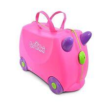 Maleta infantil correpasillos Trunki Trixie color Rosa 4 ruedas y cinta