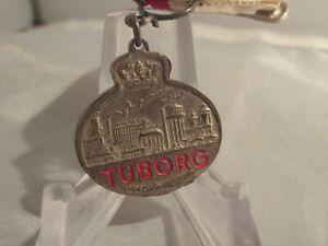 Vintage TUBORG Danish Beer manufacturer visitors medal  w ribbon
