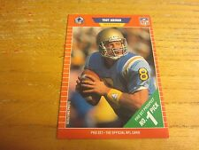 Troy Aikman 1989 Pro Set #490 ROOKIE Trading Card NFL Football Dallas Cowboys