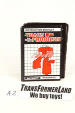 Hosehead Instructions Headmasters 1988 Hasbro G1 Transformers Action Figure