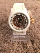Invicta Womens Lefty 1827 White Rose Gold Automatic Skeleton Watch #52