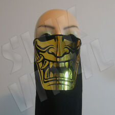 Japanese Hannya bandana face mask dust mask - Gold Chrome Edition