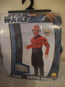 Star Wars Darth Maul Childs Costume Small 3-4 Years Disney.