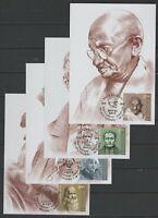Moldova 2019 Gandhi, Da Vinci, Einstein, Braille Maximum Card