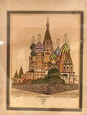 Russian Orthodox Church * Water Color & Ink --- SIGNED