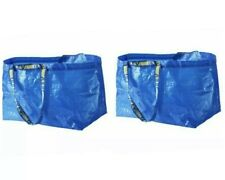 2 PACK of Ikea FRAKTA shopping bag, large, blue 21 3/4x14 1/2x13 3/4