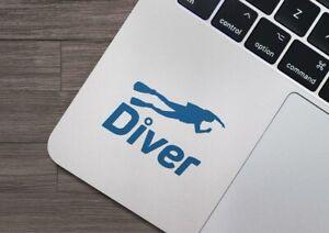 Scuba Diver Vinyl Decal Sticker iPad Laptop Diver Dive Gift Fun Club Padi Dive