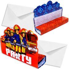 Feuerwehrmann Sam Einladungskarten, 8er