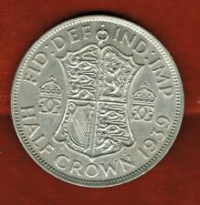 GREAT BRITAIN HALF CROWN  1939...SILVER .50%..14.4 GR. MINTAGE 15,478,999