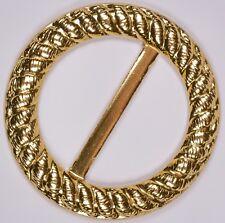 gold aluminium fashion dress slide slider buckle scarf vintage round | 4cm