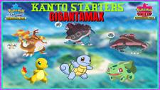 KANTO STARTERS GMAX 6IV Squirtle Charmader Bulbasaur✨SHINY✨ Pokémon Sword Shield