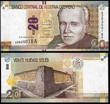 PERU 20 NUEVOS SOLES (P183) 2009 UNC