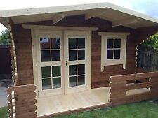 Log Cabin 4 by 4 meter, inc 1 meter balcony / roof overhang,we can make any size