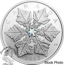 Canada 2012 $20 Crystal Snowflake Silver Coin