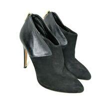 Sam Edelman Size 8 Black Jacelyn Suede Leather Ankle Booties Heel Stiletto