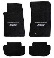 NEW! BLACK FLOOR MATS 2010-2015 Camaro Embroidered RS & Script Double Logo Set 4