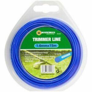 15m x1.6mm Garden Grass Strimmer Line Nylon Round String Medium Electric Trimmer