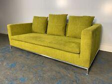 "RRP £5000 - Rare Sublime B&B Italia ""George"" 2.5-Seat Sofa in Lime Green Line..."