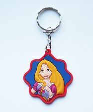 Cute Princess Rapunzel Keyring Bagcharm Keychain Zip puller Rubber PVC UK Seller