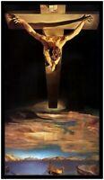 Salvador Dali Il christo Poster Kunstdruck mit Alu Rahmen in schwarz 100x50cm