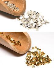 Quetschröhrchen Crimp Röhrchen in 3 Durchmessern 925/Silber und Silber vergoldet