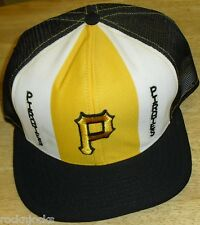 Pittsburgh Pirates Vintage 80s 90s Snapback Hat (LUCKY STRIPES) AJD MLB