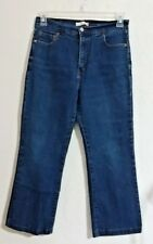 """Levi's 512 Womens Size 12 Jeans Perfectly Slimming Cotton Blend 25"""" Inseam Cropd"""