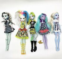 Monster High Doll Lot Of 5 Dolls Including Electrified Frankie Stein!