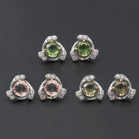Small color change diaspore 925 silver sultanit stud earrings women girls gift