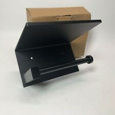 New ListingPaper Holder with Shelf Black Toilet Tissue Holders W/Cover for Bathroom