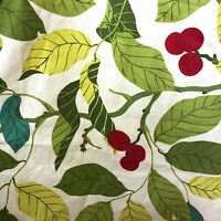 IKEA STOCKHOLM BLAD Fabric Panel for Curtains Green Leaves & Red Berries