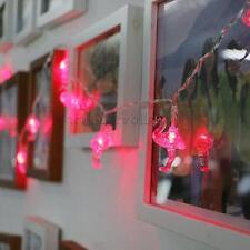 Flamingo 10 LED Lichterkette Garten Licht String Weihnachten Hochzeit 02