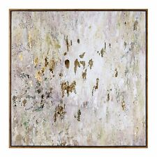 """Oversize 60"""" Abstract Oil Painting   Wall Art Artwork Gold White Brown"""