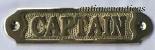 """Brass """"CAPTAIN"""" Plaque or Sign,Nautical Collectible Home Decorative Plaque Gift"""