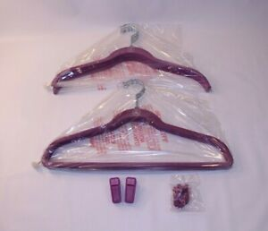 NEW Joy Mangano JM Huggable Clothes Hangers Shirt Pant Bundle Set 10 Non Slip