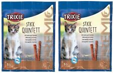 CAT TREATS Meat Sticks x2 Pack of 5 LAMB & TURKEY Trixie Stick Quintett