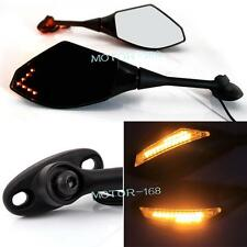 Motorcycle LED Turn Signal Light Rearview Mirrors For 2003-14 Honda CBR600RR Y-2