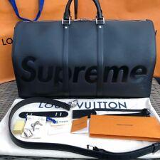 Louis Vuitton LV X Supreme keepall bandouliere EPI 55 Black Noir