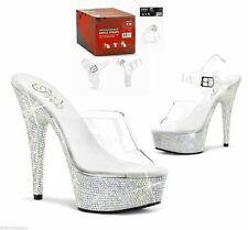 BNIP Pleaser USA 1 pair Detachable Clear Ankle Straps S-M fits 5 - 10 DASC-sm