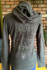 $79 MEK DNM DENIN Made in Los Angeles USA Gray HOODIE HOODY Sweater Women's L