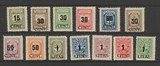 Lithuanian Occupation of Memel 1923 (June ) Set of 13 MH