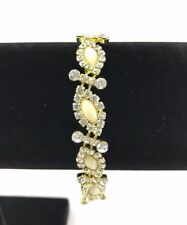 NEW Women's Fashion Jewellery Bracelet Gold & Yellow Stones *EXP SHIPPING*