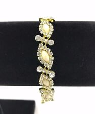 NEW Women's Fashion Jewellery Bracelet Gold & Yellow Stones *FREE SHIPPING*