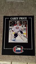 CAREY PRICE MONTREAL CANADIENS GAME USED STICK 8 X 10 COA