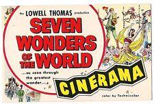 SEVEN WONDERS OF THE WORLD CINERAMA  Melba Texas Theater Postcard Tx