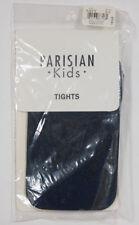 PARISIAN KIDS NAVY BLUE TIGHTS NIP GIRLS SIZE 4 5 6  NYLON 4-6 BRAND NEW